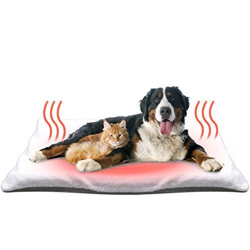 🥇 Fyore Manta autocalentable para Gatos & Perros Manta térmica Calentar Mascota Cobija Alfombra de Cama para Mascotas Auto calefacción para Mascotas