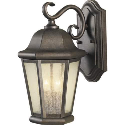 Feiss Martinsville Corinthian Bronze 2-Light Outdoor Wall-Mounted Lantern - Lantern Outdoor Martinsville