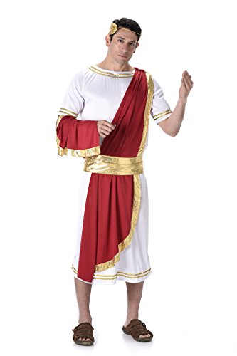 Costume Ancient Greek (Men's Roman Emperor - Halloween Costume (M))