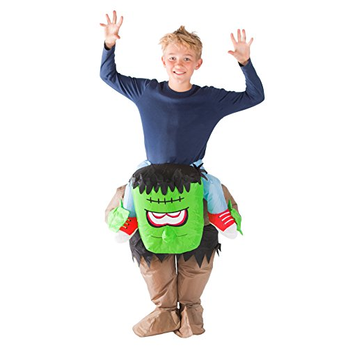 Cheap Halloween Fancy Dress Costumes (Bodysocks - Inflatable Kids Frankenstein Piggyback Halloween Fancy Dress Costume)