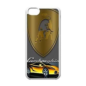 Printed Cover Protector iPhone 5C Cell Phone Case White Lamborghini Uikkl Unique Design Cases