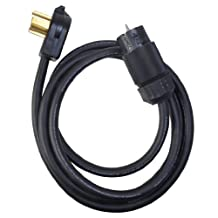 Coleman Cable 01824 Power Distribution Generator Extension Cord 30-Amp Dryer Plug (14-30P) to 50-Amp Outlet (CA 50A Twist)