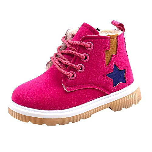 Axinke Toddlers Little Boys Girls Winter Casual Sneaker Warm Ankle Boots (5.5 M US Toddler, Hot -
