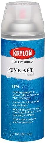 Krylon K01374000 Gallery Series Pastel Premium Fixatif Aerosol Spray, 11 Ounce