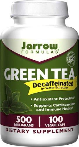 Jarrow Formulas thé vert décaféiné, 500 mg, 100 Veggie Caps