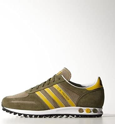 monitor Persona maíz  Adidas Originals Adidas Originals La Trainer Hemp Green & Yellow UK 5.5:  Amazon.de: Schuhe & Handtaschen