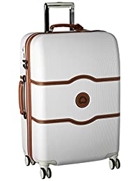 Delsey Luggage Chatelet Hard+, Medium Checked Luggage, Hard Case Spinner Suitcase, Champagne