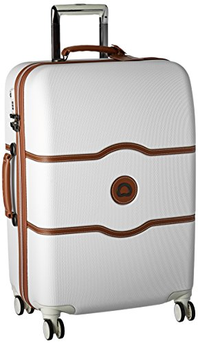 Delsey Luggage Chatelet Hard+, Medium Checked Luggage, Hard Case Spinner Suitcase, (Leather Zippered Tie Case)