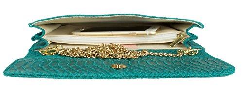 Cartera turquesa Mujer de Handbags Girly mano q6pwCH65