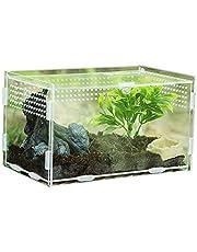 foyar Rettile Box per Allevamento Scatola per Alimenti in Acrilico Terrario da Arrampicata per Animali Domestici Trasparente a 360 Gradi Well-Liked