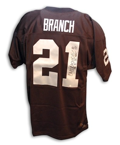 Sb Time 3 - Autographed Cliff Branch Oakland Raiders Throwback Black Jersey with 3 time SB Champs inscription - APE COA