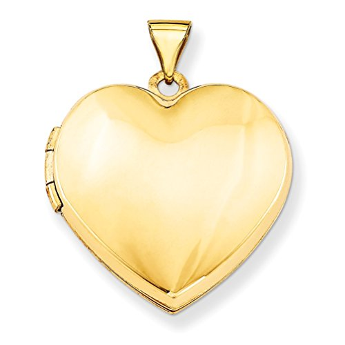 14k Yellow Gold Domed Heart Locket by The Men's Jewelry Store (for HER)