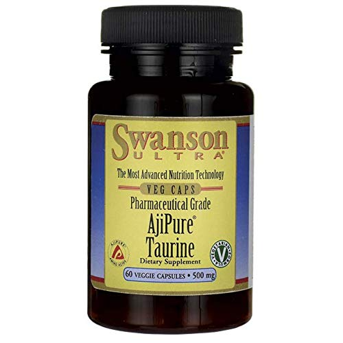 Swanson Amino Acid Ajipure Taurine Pharmaceutical Grade 500 Milligrams 60 Veg Capsules