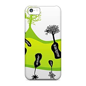 Randolphfashion2010 Perfect Cases For Iphone 5c/ Anti-scratch Protector Cases (trees On Seasons)