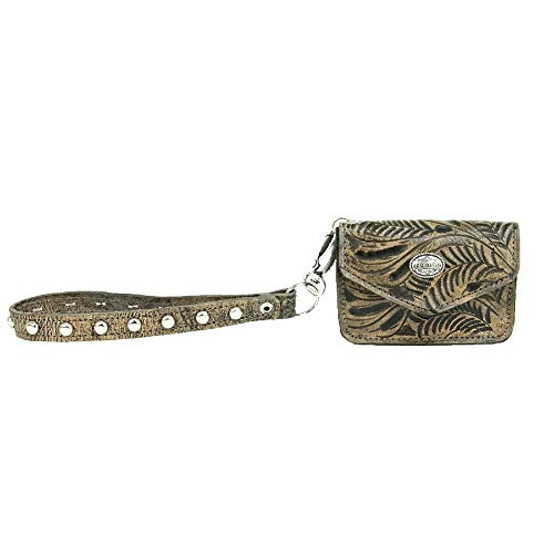 West Lariats Lace Leather Credit Card Wallet Wristlet