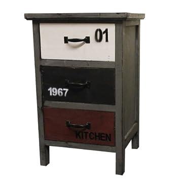 Unbekannt Kommode Vintage Kuchenkommode Apothekerkommode Holz 3