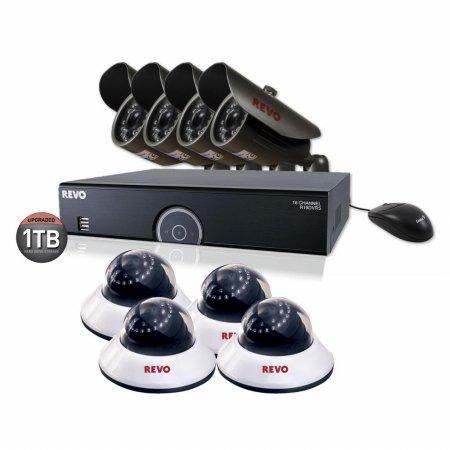 16-Channel 1TB 960H DVR Surveillance System With 8 650TVL 80 ft. Night Vision Cameras - REVO America R165B4ED4E-1T
