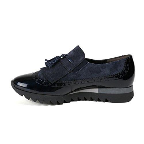 Sneaker Paul Green Leder/Textil kombi blau