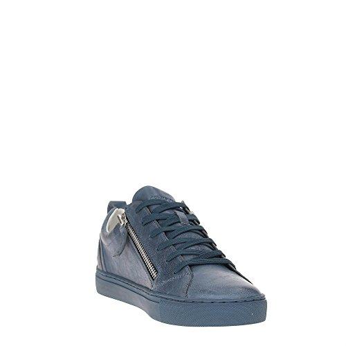 Crime 11300S17B Sneakers Herren Leder Blau 44