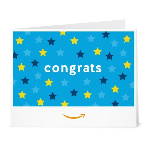Amazon Gift Card - Print - Congrats (Stars)