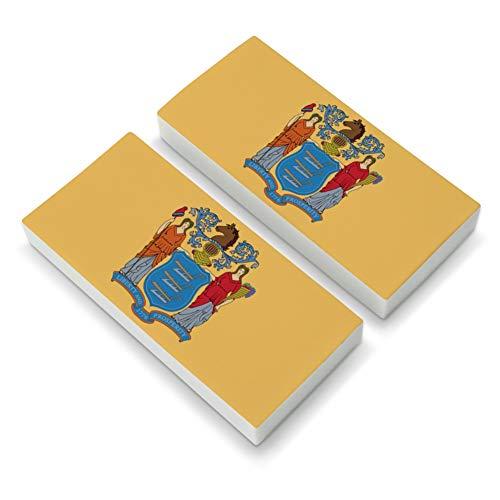 New Jersey State Flag Eraser Set of 2