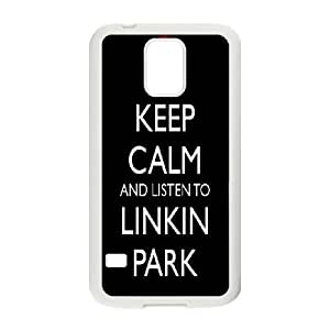 Bloomingbluerose Linkin Park Samsung Galaxy S5 Cases Linkin Park Quotes,keep Calm and Listen to Linkin Park, {White}