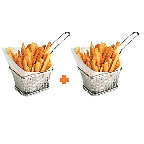 Amazon.com: Acero inoxidable Mini patatas fritas Cesta ...