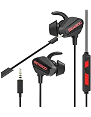 $20 » BENGOO G20 Gaming Earbuds, In-Ear Gaming Headset Headphones with Dual Microphone for PS4 PS5 PC Xbox One iPhone Super Nintendo Gamecube, Wired Earbuds with Noise Cancellation,Heavy Bass, 3.5mm Jack