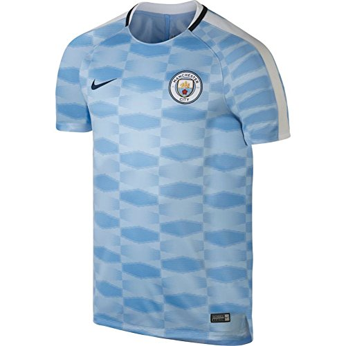 Nike Men's Manchester City NK Squad Top SS GX Soccer Training Jersey (X-Large) Field Blue