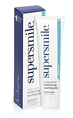 Supersmile - Original Mint Professional Teeth Whitening Fluoride Toothpaste - Safely Whitens & Remineralizes Teeth For Fast Results - 1.4 ounces