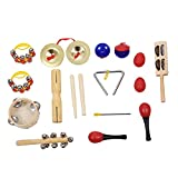 TOOGOO(R) Percussion Set Kids Children Toddlers Music Instruments Toys Band Rhythm Kit with Case