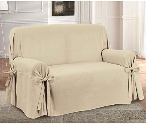 HomeLife – Cubre sofá de 3 plazas – Elegante Protector de sofás con Lazos – Funda de sofá de