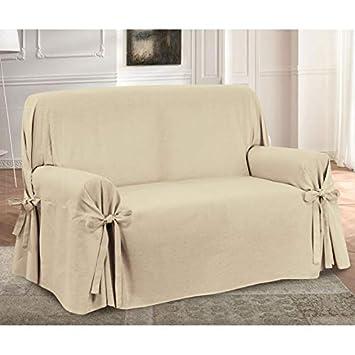 HomeLife – sillón/Sofá de Dos o Tres Puestos – Funda Elegante con Cordones Decorativos
