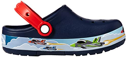 Clog Jets Navy Band Crocs Kids Funlab Lights BXPvXq