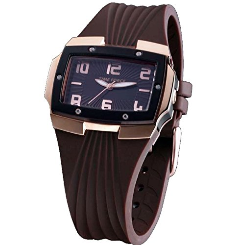 Time Force Tf3135l05mo Reloj Analogico Para Mujer Caja De Acero Inoxidable Esfera Color Marron