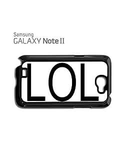 LOL Troll Meme Smiley Mobile Cell Phone Case Samsung Note 2 White