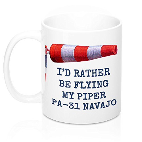 I'D RATHER BE FLYING MY PIPER PA-31 NAVAJO MUG. IDEAL for sale  Delivered anywhere in USA