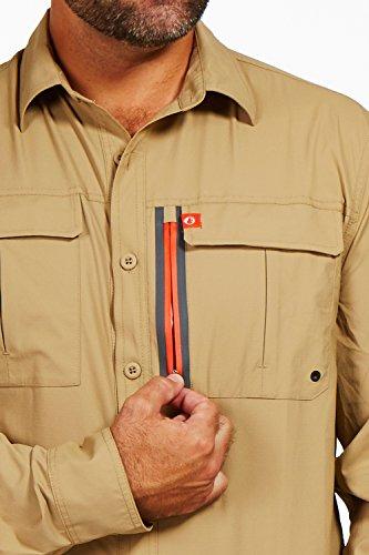 2825bde6 American Outdoorsman Men's Long-Sleeve Fishing Shirt Blackfoot River,  Moisture-Wicking Button-