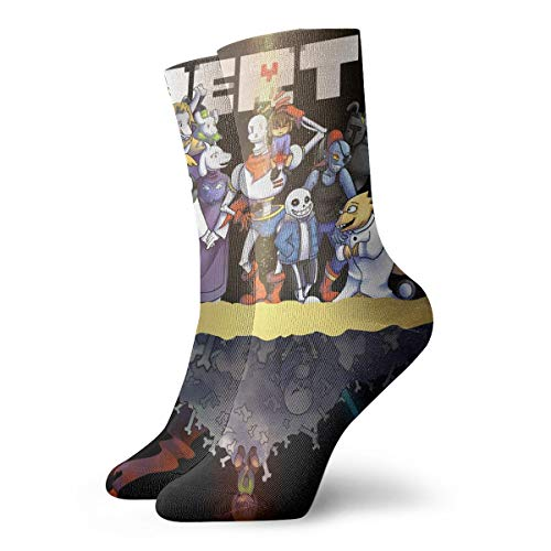 Unisex Cute Funny Casual Cotton Crew 3D Print Undertale_Main_Cast Work Sport Outdoor Soccer Socks
