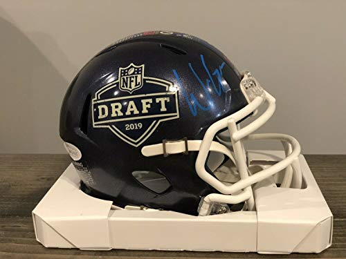 Will Grier Autographed Signed Memorabilia Carolina Panthers NFL Draft 2019 Mini Helmet With - JSA Authentic (Autographed Nfl Draft)