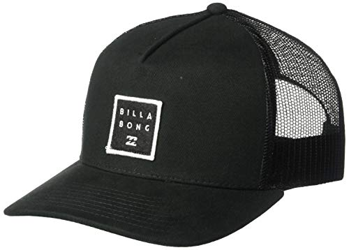 (Billabong Men's Stacked Trucker Hat Black One Size)