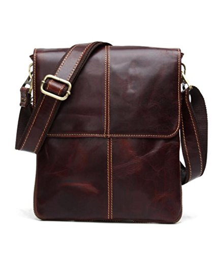 Vintage Messenger 2 Capacity Large Leather Sucastle Design Men's Shoulder Bags 3 Briefcases xOTnCw4Yq
