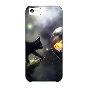 Hot Covers Cases For Iphone/ 5c Cases Covers Skin - Space Cat Doubt