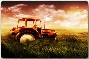 """Vieja granja Tractor antiguo alfombrilla Felpudo goma de neopreno Felpudo antideslizante Felpudo se puede lavar a máquina. (23.6x15.7, """"L x W)"""