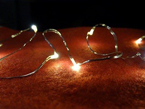 XL Sparangebot 10 batteriebetriebene Lichterketten innen warmweiß mit je 10 LEDs - LED Lichterkette LED Lichterketten warmweiß biegsam 10 LED Weihnachtsbeleuchtung - frei biegbar aus Draht mit 10 hellen warmweißen LEDs - LEDs wasserfest - für den Innenbereich, auch einzeln, als 3er und 5er Set erhältlich