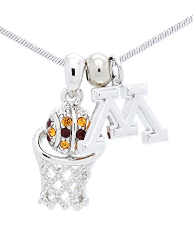 MINNESOTA GOPHERS BASKETBALL NECKLACE - MINNESOTA GOPHERS BASKETBALL PENDANT ()