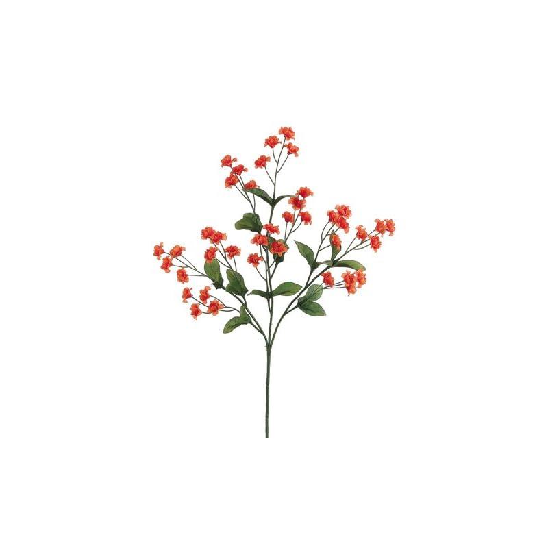 "silk flower arrangements 19"" silk double baby's breath flower spray -flame (pack of 24)"