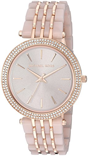 Michael Kors Darci Rose Goldtone And Blush Acetate Watch
