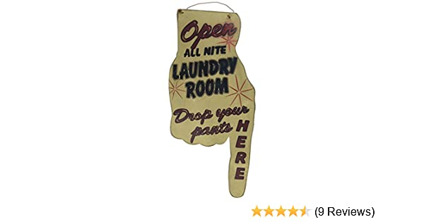Open All Nite Laundry Room Finger Sign 31011