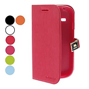 Solid Color PU Leather Case for Samsung Galaxy S3 mini I8190 (Assorted Colors) --- COLOR:Blue